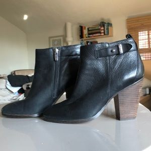 Coach Heeled Black Booties
